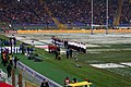 2012-02-11 Rome Olympic Stadium Italy and England lineups.jpg
