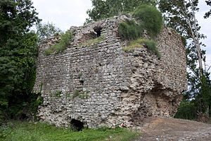 Momchil - Fortifications at Peritheorion near Amaxades, northeast Greece, site of Momchil's last stand and death in 1345