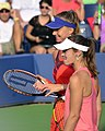 2013 US Open (Tennis) - Daniela Hantuchova and Martina Hingis (9660767692).jpg