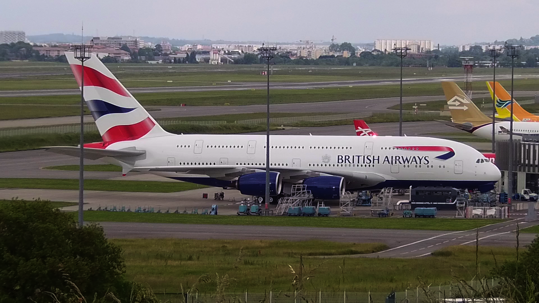Parked at the Delivery Center a few days after the Customer Acceptance Flight. Will be G-XLEF after delivery (6th British Airways' A380).