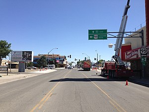 U.S. Route 95 in Nevada - US 95 northbound in downtown Winnemucca