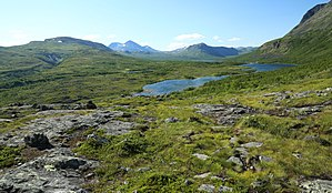 Fell - Fjäll landscape in Padjelanta, Swedish Lapland