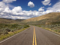 2014-08-19 14 17 28 View north along Nevada State Route 225 (Mountain City Highway) about 92.5 miles north of Nevada State Route 535 (Idaho Street) near Owyhee, Nevada.JPG