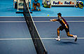 2014-11-12 2014 ATP World Tour Finals Horia Tecau playing volley by Michael Frey.jpg