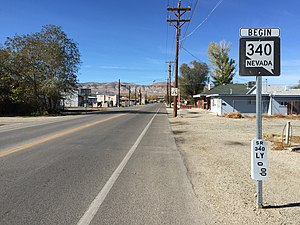 Nevada State Route 340 - View from the east end of SR 340 looking westbound