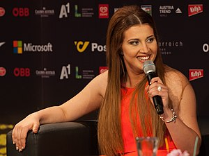 Malta in the Eurovision Song Contest 2015 - Amber at a press meet and greet