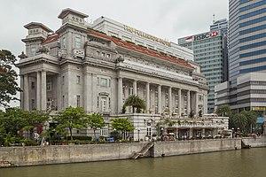 The Fullerton Hotel Singapore - Image: 2016 Singapur, Downtown Core, Hotel Fullerton (01)