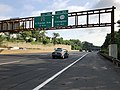 2018-07-17 08 04 30 View north along New Jersey State Route 444 (Garden State Parkway) between Exit 142 and Exit 143 in Irvington Township, Essex County, New Jersey.jpg