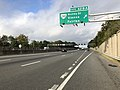 2018-10-10 09 01 08 View west along Interstate 66 at Exit 62B-A (Virginia State Route 243 - Nutley Street, Vienna, Fairfax) in Vienna, Fairfax County, Virginia.jpg
