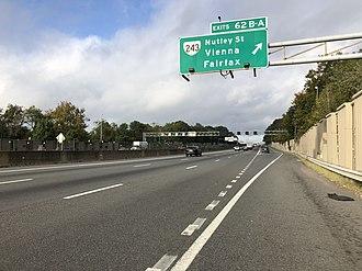 Vienna, Virginia - Interstate 66 westbound in Vienna