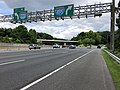 2019-05-27 12 21 09 View north along the inner loop of the Capital Beltway (Interstate 495) at Exit 38 (Interstate 270, Rockville, Frederick) on the edge of Potomac and Bethesda in Montgomery County, Maryland.jpg