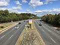 2019-10-17 13 11 04 View east along Virginia State Route 294 (Prince William Parkway) from the overpass for Virginia State Route 849 (Caton Hill Road) in Potomac Mills, Prince William County, Virginia.jpg