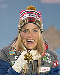 20190227 FIS NWSC Seefeld Medal Ceremony Therese Johaug 850 5308 Therese Johaug.jpg