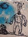 244 Grafit vora la Torre de l'American Lake (Gavà).JPG