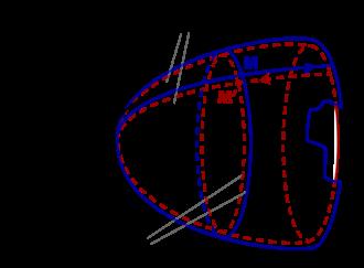 Jean-Pierre Petit - 2D didactic image of Janus model.