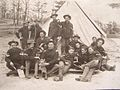 2nd Arkansas Infantry Members in front of a tent.jpg