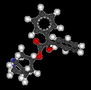 3-Quinuclidinyl benzilate - Image: 3 Quinuclidinyl benzilate balls