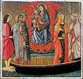 3. Giovanni di Ser Giovanni, detto lo Scheggia, Madonna col Bambino e Santi (1450 ca.) Museo di Fucecchio.jpg