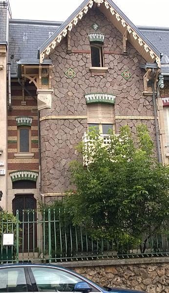 Maison au 30 rue Félix Faure à Nancy (54-France) - art nouveau - inscrite aux Monuments Historiques