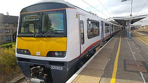 British Rail Class 321 - Greater Anglia Class 321/3 EMU, refurbished as part of the Renatus Project at Colchester