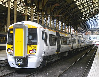 British Rail Class 379 - A Class 379 No. 379028 at Liverpool Street.