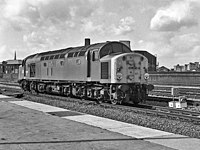 40069 passes the former Manchester Exchange station.jpg