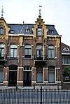 foto van Blok woonhuizen, oorspronkelijk met een werkplaats