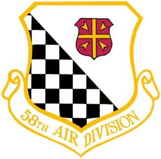 58th Air Division - Image: 58th Air Division crest