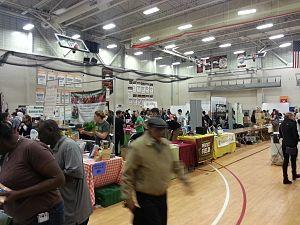 Boston Vegetarian Society - Image: 600 425501432 2014BVFF Exhibit Area