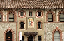 Particolare del Castello Visconteo di Milano, opera del Beltrami