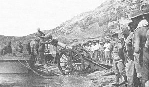BL 6-inch 30 cwt howitzer - Gun landing at Anzac Cove, Gallipoli, 1915