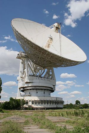 State Space Agency of Ukraine - 70-m aerial P-2500 (RT-70 radio telescope) in Yevpatoria.(built in 1978)