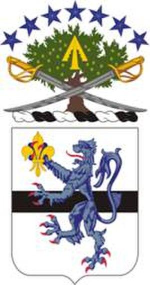 71st Cavalry Regiment - Coat of arms