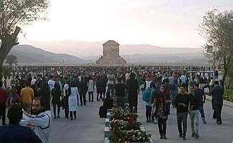 Cyrus the Great Day - People gathering around the Tomb of Cyrus on 29 October 2015