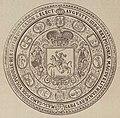 Aŭgust Sas, Pahonia. Аўгуст Сас, Пагоня (1738, 1883).jpg