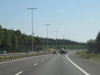 A27 motorway (Netherlands) - The A27 near Hilversum.