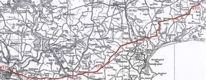 A477 road - Original route of the A477 road in 1923 between Pembroke Dock and Red Roses