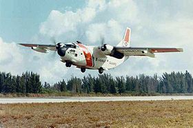 Un Fairchild C-123 Provider utilisé en 1971 par la 7th Coast Guard Dist. basée à Miami.