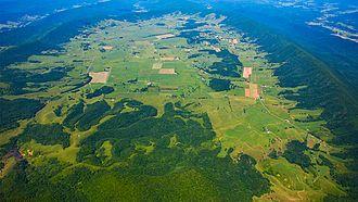 Burke's Garden, Virginia - Aerial overview of the valley