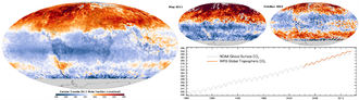 Atmospheric carbon cycle - 2011 carbon dioxide mole fraction in the troposphere.