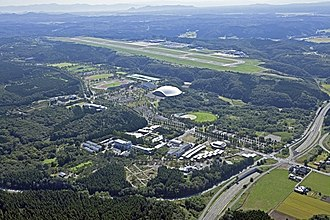 Akita International University - Aerial view of the university