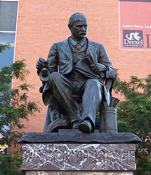 Anthony Joseph Drexel - Anthony J. Drexel's statue at Drexel University