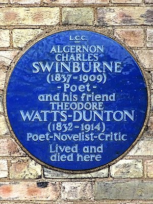 The Pines, Putney - Image: ALGERNON CHARLES SWINBURNE (1837 1909) ~ Poet ~ and his friend THEODORE WATTS DUNTON (1832 1914) Poet Novelist Critic Lived and died here