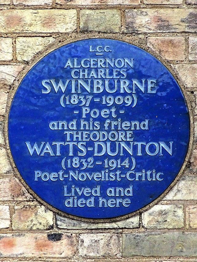 Photo of Algernon Charles Swinburne and Theodore Watts-Dunton blue plaque