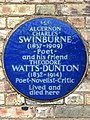 ALGERNON CHARLES SWINBURNE (1837-1909) ~ Poet ~ and his friend THEODORE WATTS-DUNTON (1832-1914) Poet-Novelist-Critic Lived and died here.jpg