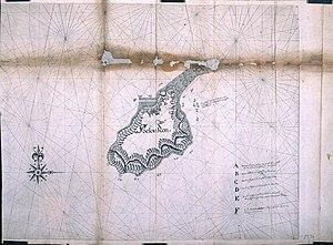 Run (island) - Map of Run Island dated 1623