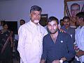 AP CM Nara Chandrababu Naidu with Laxman Banoth at NTR Bhavan hyd.jpg