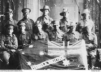 56th Battalion (Australia) - 55th and 56th Battalion recruits from Bungendore, New South Wales, 1916.
