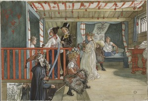 A Day of Celebration. From A Home (26 watercolours) (Carl Larsson) - Nationalmuseum - 24221.tif