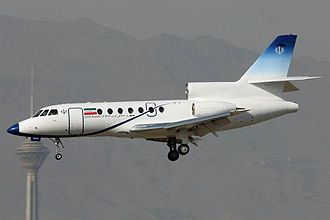Dassault Falcon 50 - Falcon 50 of the Iranian government landing at Mehrabad International Airport in Tehran